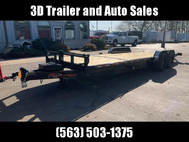 2020 Chase Trailers 24' 14K Split Deck Tilt Bed Equipment Trailer