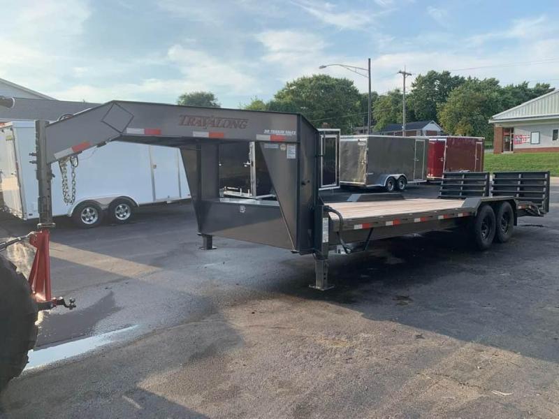 2019 Travalong 23' 14k Gooseneck Full Width Lowboy Equipment Trailer