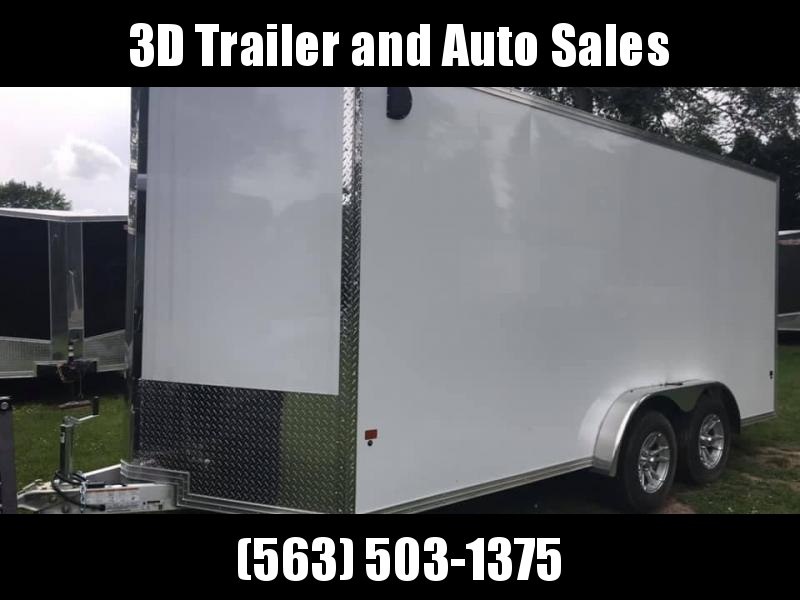 "2019 Cargo Pro 7.5' x 16' x 6'9"" Stealth Extra Tall Aluminum Cargo Enclosed Trailer w/ Ramp Door"