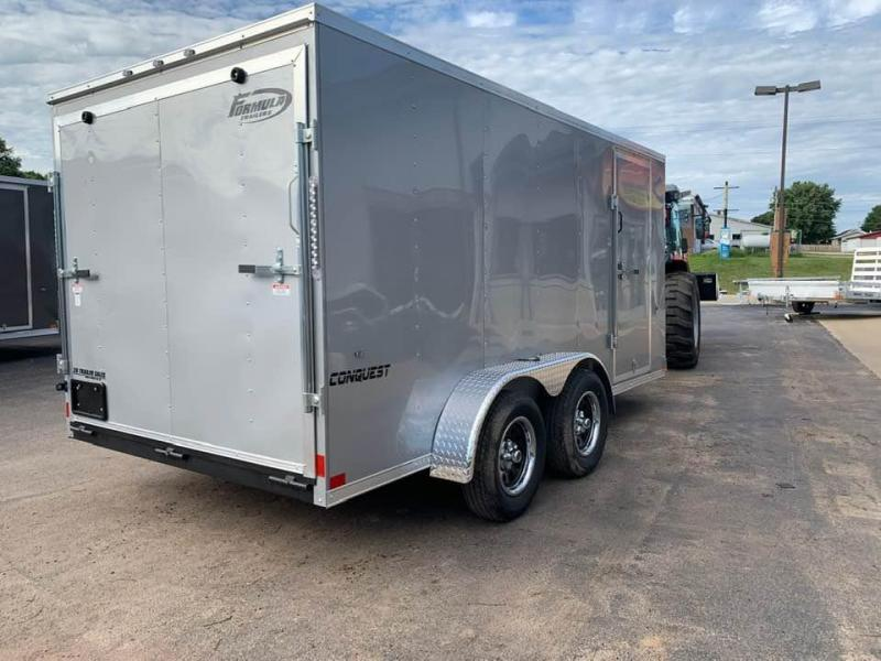 2020 Formula 7' x 14' x 6' Conquest Enclosed Trailer w/ Ramp Door