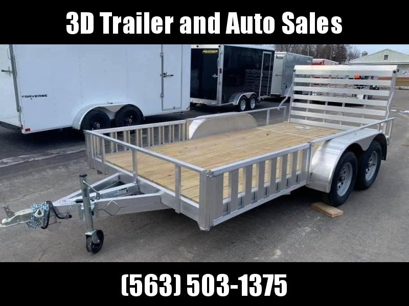 "2020 Alcom High Country 80"" x 14' Aluminum Tandem Axle ATV Package Utility Trailer"