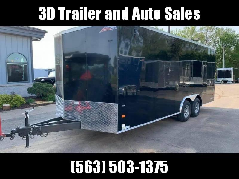 2020 AMERICAN HAULER 8.5' x 20' x 7' NIGHT HAWK 10K GVWR Race Car Enclosed Trailer