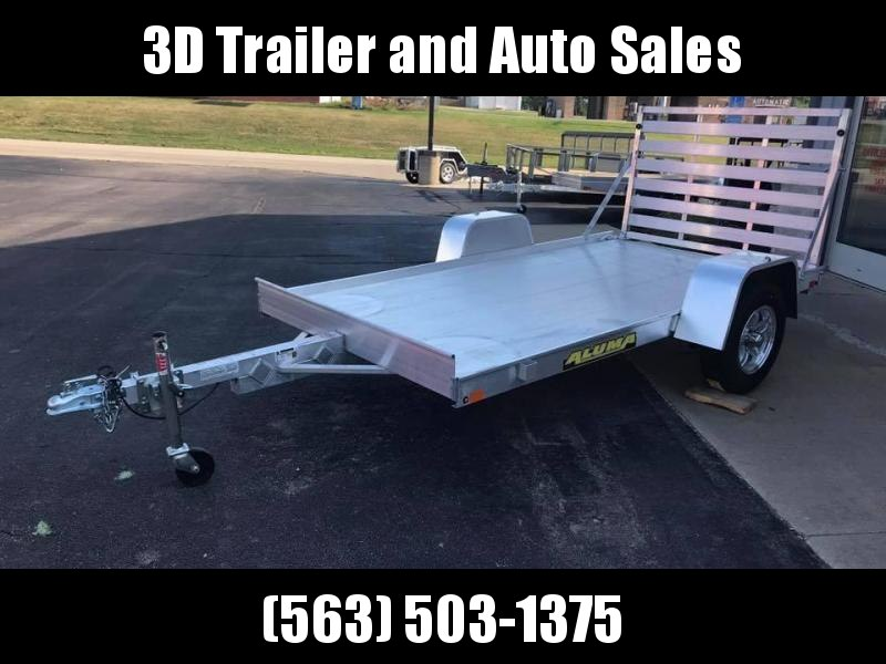 "2020 Aluma 63"" x 10' All Aluminum Open Utility Trailer w/ Straight Gate"