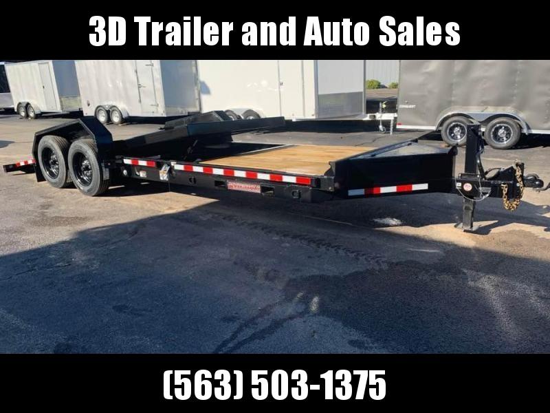 2020 Midsota 22' 17600LB GVWR Split Tilt Bed Equipment Trailer