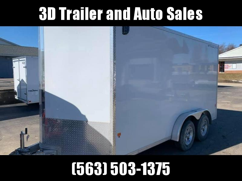"2019 CargoPro 7.5' x 14' x 6'10"" Stealth Extra Tall Aluminum Cargo Enclosed Trailer w/ Ramp Door"