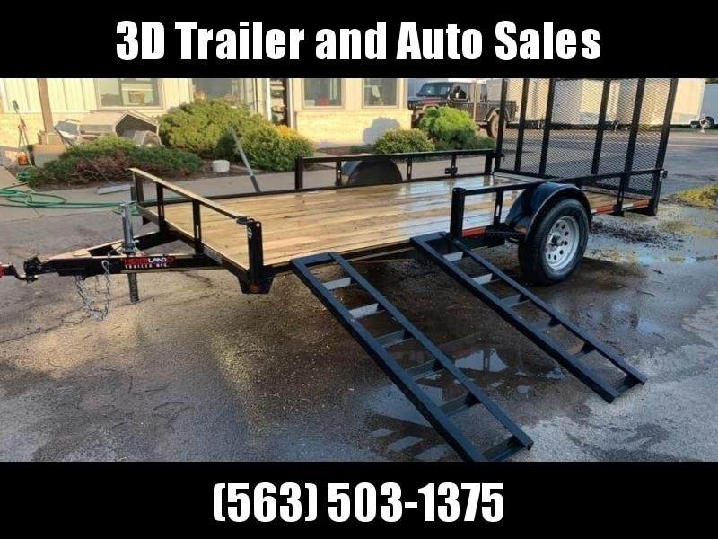 2019 Heartland 7' x 14' ATV TRAILER Front Side Load Ramps & 4' Gate Open Utility Trailer