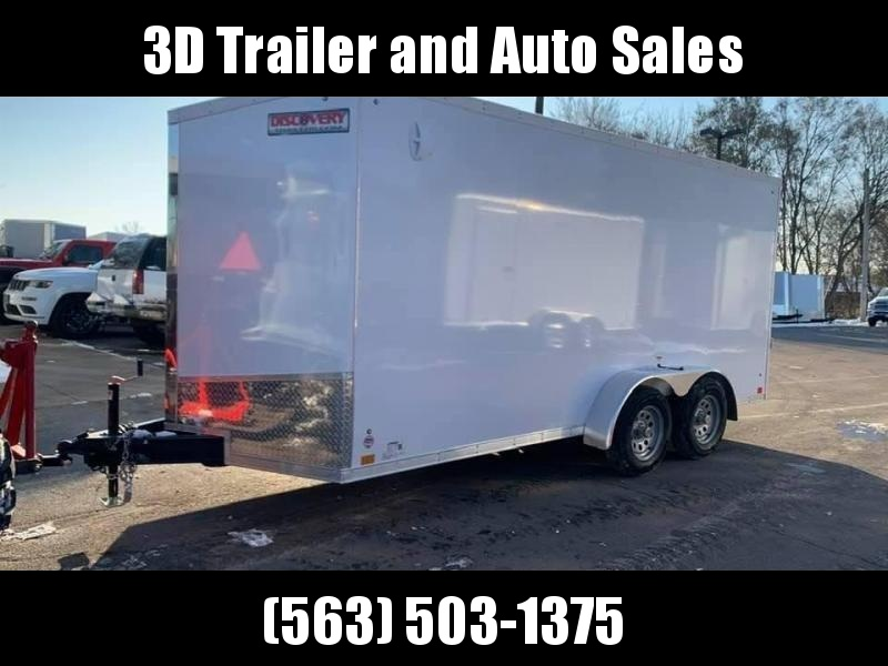 """2020 Discovery 7' x 16' x 6'6"""" Rover SE Enclosed Trailer w/ Ramp"""