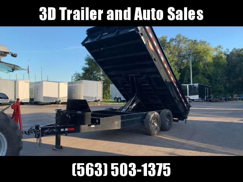 "2019 H & H 96"" x 14' 14K Deckover Dump Trailer w/ Fold Down Sides"