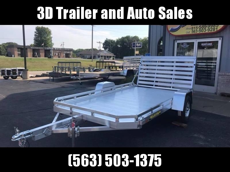 "2020 Aluma 77"" x 12' H Straight Gate Aluminum Open Utility Trailer"