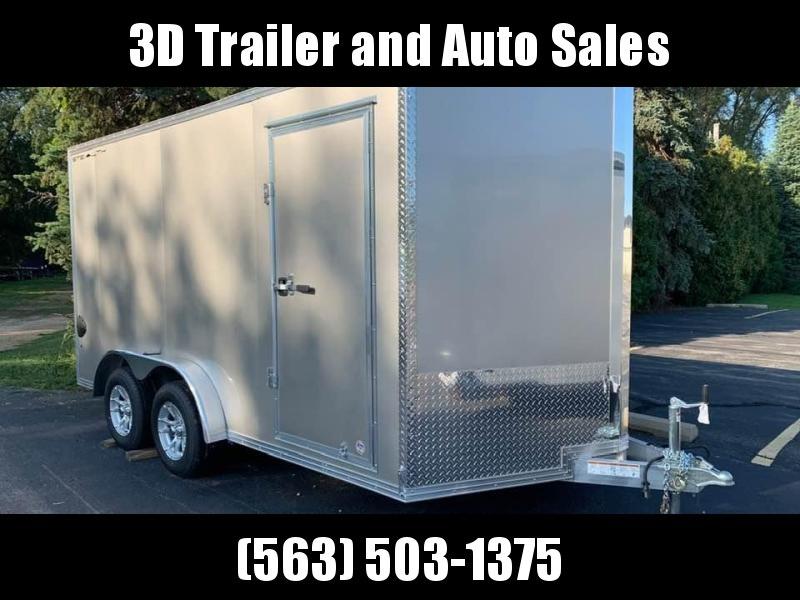 "2020 Cargo Pro 7.5' x 14' x 6'9"" Stealth Extra Tall Aluminum Enclosed Cargo Trailer w/ Ramp Door"