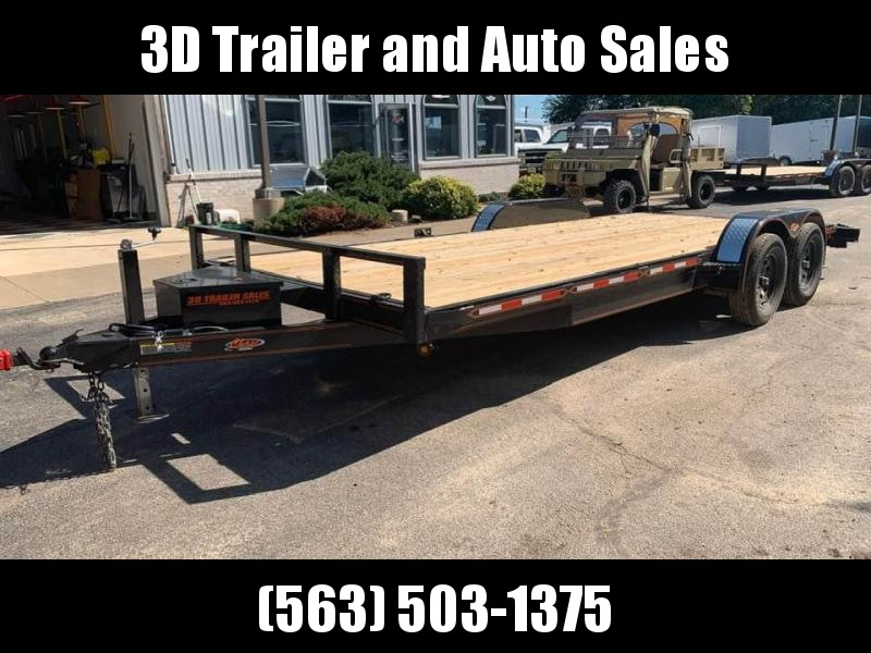 2019 Chase Trailers 20' 7K Loaded Flatbed Car Trailer