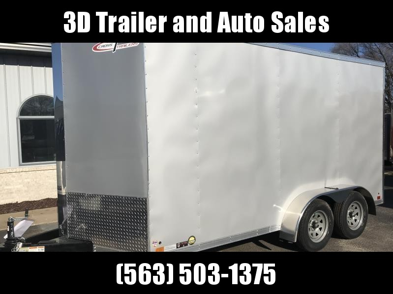 2019 Cross 7' x 14' x 7' Extra Tall Enclosed Trailer w/ Ramp Door