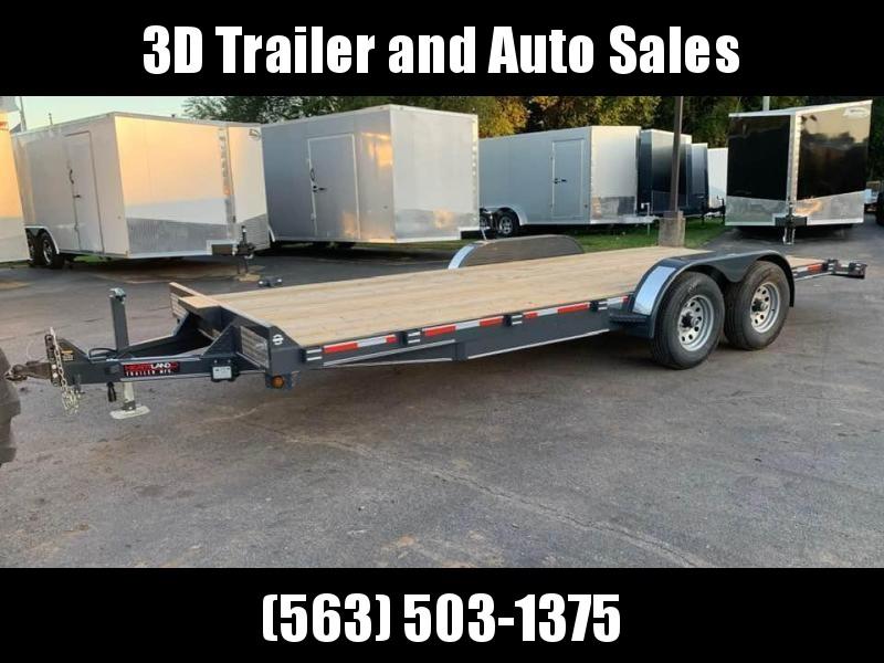 2019 Heartland 20' 10K GVWR Flatbed Car / Equipment Trailer
