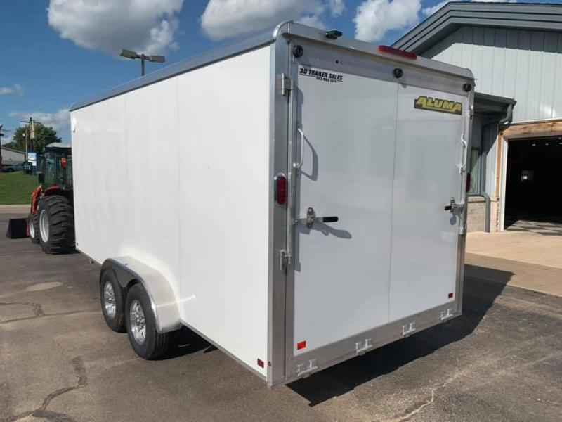 "2020 Aluma AE 7' x 14' TAR w/ 9"" Extra Tall Aluminum Enclosed Cargo Trailer"