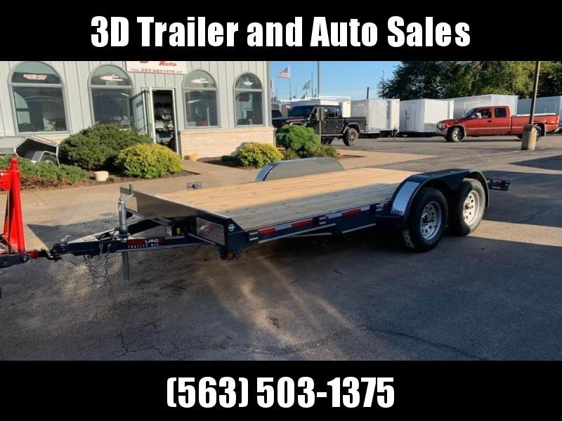 2020 Heartland 16' 7K GVWR Flat Bed Car Trailer