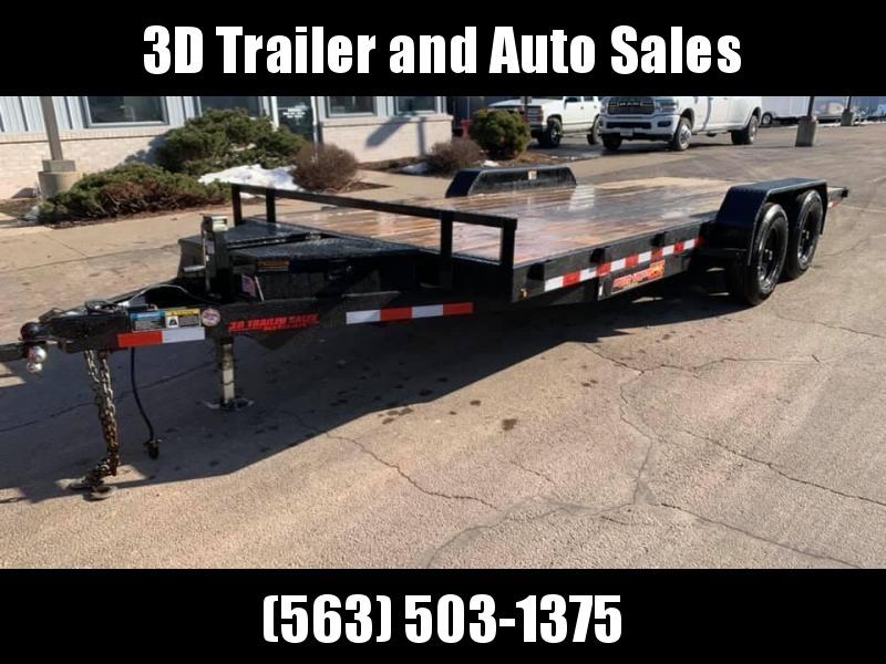 """2020 H & H 82"""" X 20' 10k Speedloader EX Power Tiltbed Car / Racing Trailer"""