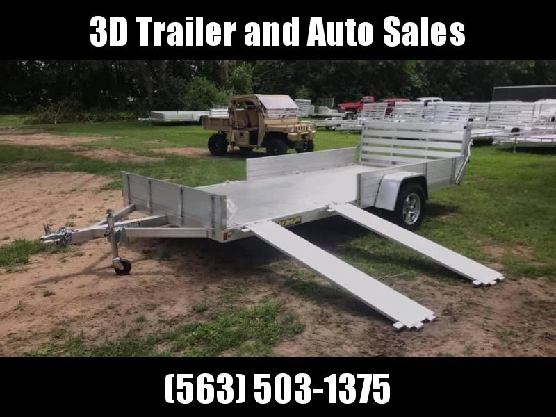 """2020 Aluma 81"""" x 14' SR Bifold Gate Aluminum Open Utility Trailer"""