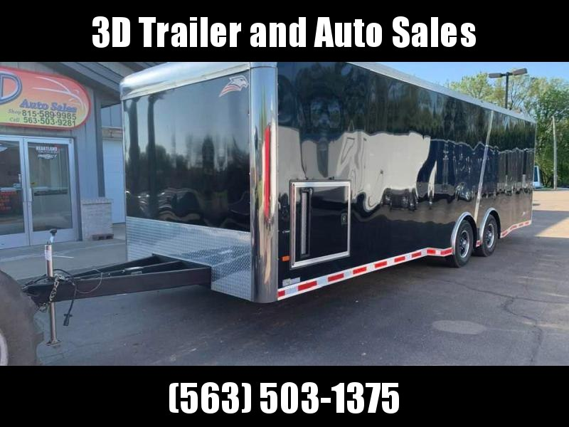 2020 American Hauler 8.5' x 28' x 7' 12K GVWR Silver Hawk LOADED Enclosed Race Car Trailer