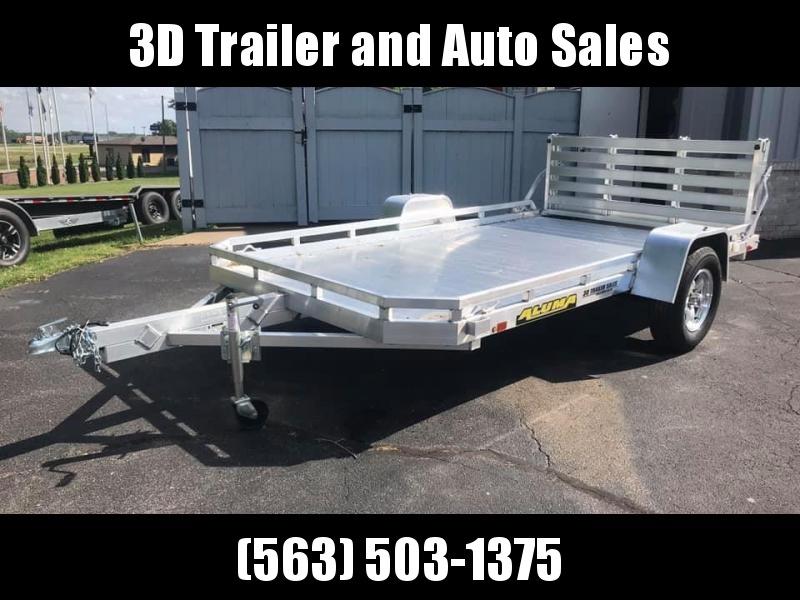 """2021 Aluma 77"""" x 12' H BiFold Gate Aluminum Open Utility Trailer"""