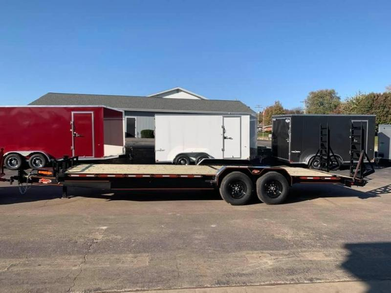 2020 Chase Trailers 22' 14K Equipment Trailer w/ Fold-Up Ramps