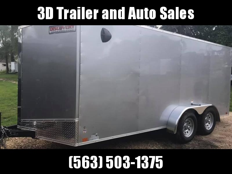 2020 Discovery 7' x 16' x 6' Rover ET Enclosed Trailer w/ Ramp