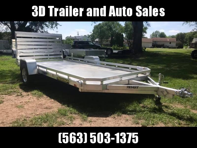 "2020 Aluma 78"" x 14' Straight Gate Aluminum Open Utility Trailer"