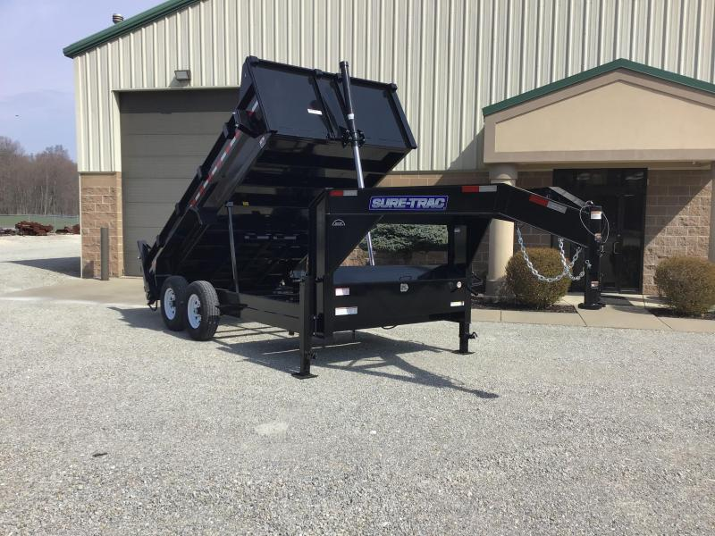 2020 Sure-Trac 82x14 14K HD Goose Low Profile Dump (Telescopic) Dump Trailer