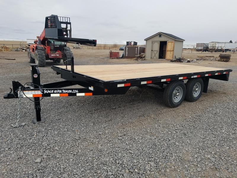 2020 Snake River 8'x16' Deckover Equipment 10K Equipment Trailer