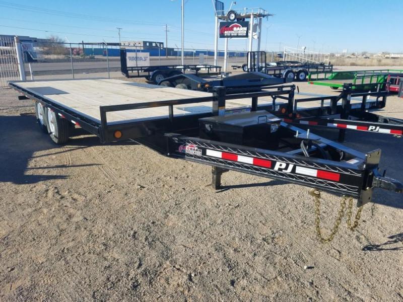 8 x 22 2019 PJ Trailers Deckover Tilt (T8) Car / Equipment Trailer @RedBarnTrailers