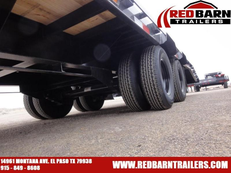 102x36 2020 PJ Trailers Low-Pro Flatdeck with Duals (LD) @ Red Barn Trailers