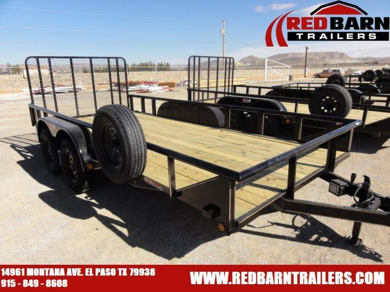 7 X 16 2020 GR Trailers UT7022WR07L Utility Trailer @RED BARN TRAILERS