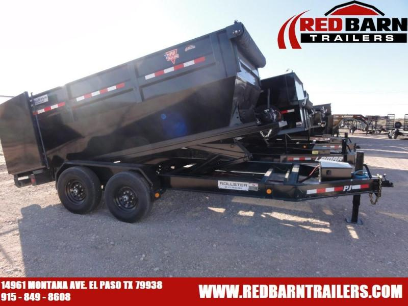 2020 PJ Trailers ROLL-OFF Dump Trailer (3 bins included)