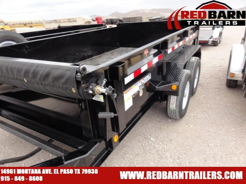 7 x 12 020 PJ Trailers DL142 Dump Trailer @RED BARN TRAILERS