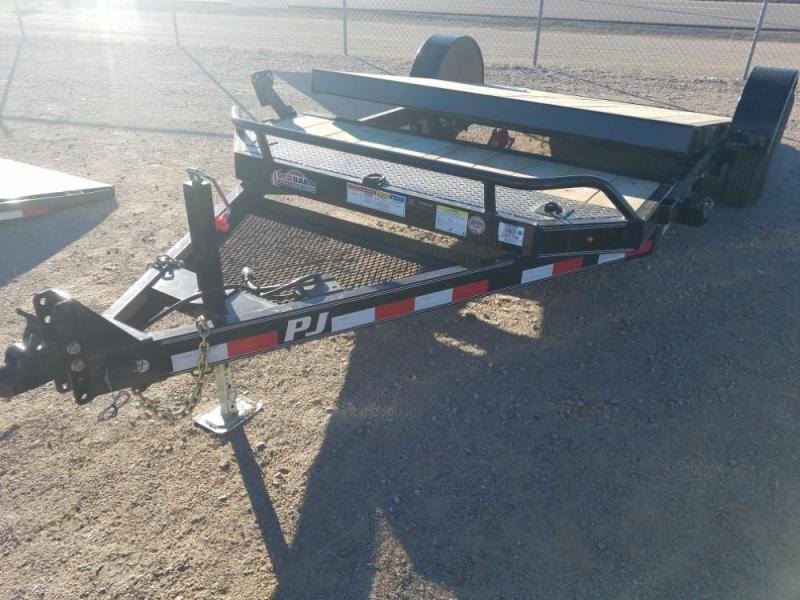 6.5' x 16 2019 7X16 PJ Trailers Single Axle HD Tilt (T1) Equipment Trailer @RedBarnTrailers