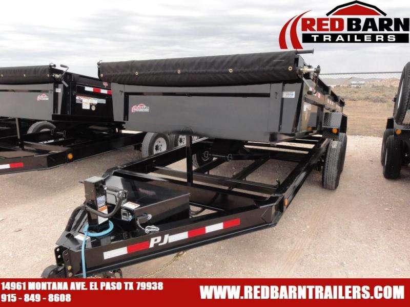 7 x 16 020 PJ Trailers DL142 Dump Trailer @RED BARN TRAILERS