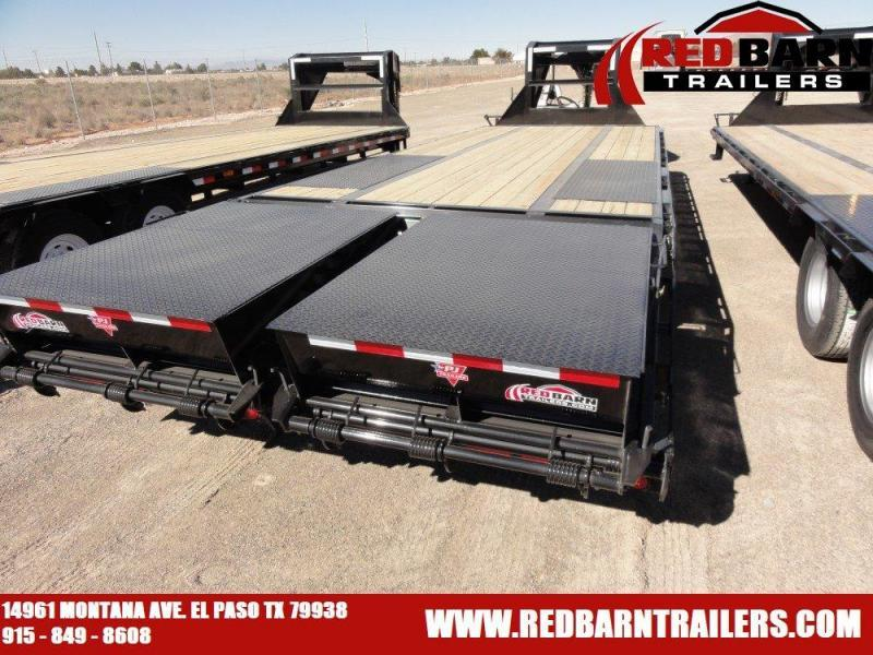 102x30 2019 PJ Trailers Low-Pro Flatdeck with Duals (LD) @ Red Barn Trailers