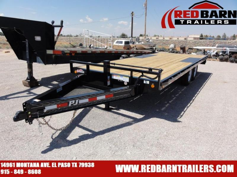 96 X 20 2020 PJ Trailers F8242 Flatbed Trailer @RED BARN TRAILERS