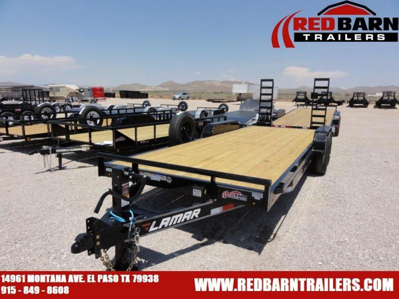 7 X 18 2019 Lamar Trailers H6182 Equipment Trailer @RED BARN TRAILERS