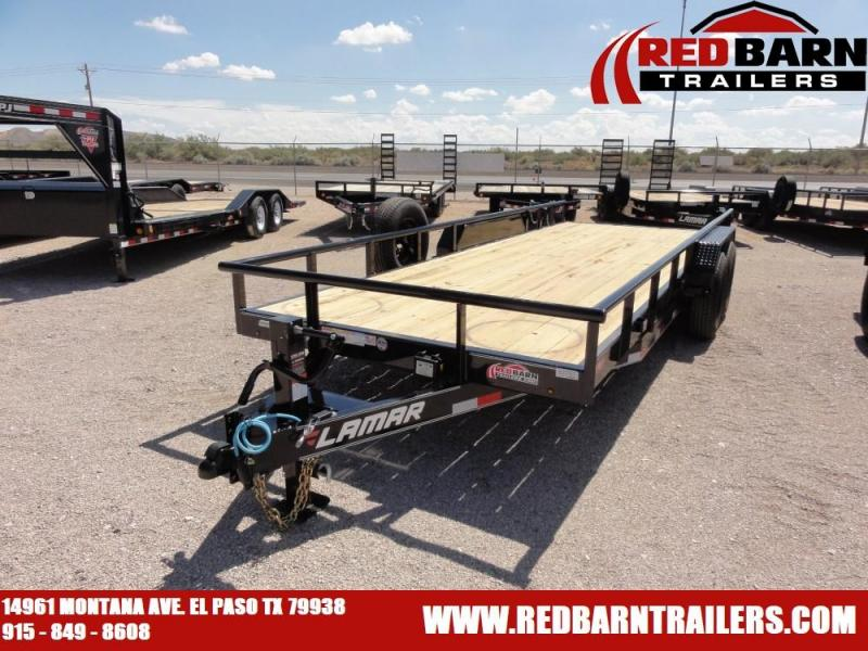7 X 20 2019 Lamar Trailers U68314 Utility Trailer @RED BARN TRAILERS