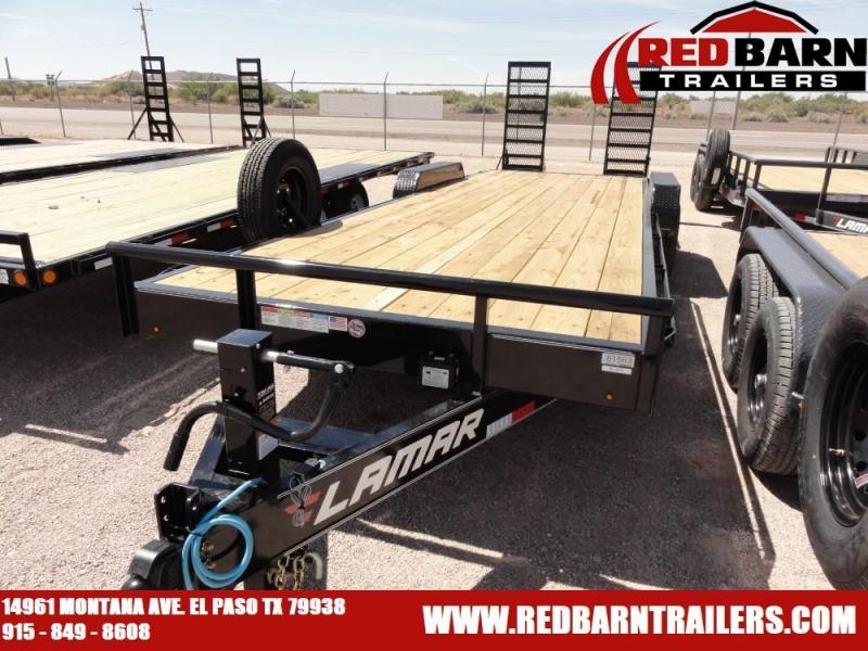 7 X 24 2019 Lamar Trailers H88324 Equipment Trailer @RED BARN TRAILERS