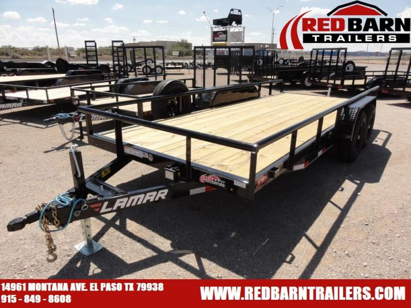 7 X 18 2020 LAMAR U5 UTILITY TRAILER @RED BARN TRAILERS