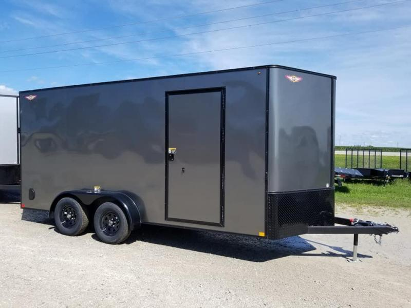 2020 H and H Trailer 7X16 Blacked Out Enclosed Cargo Trailer