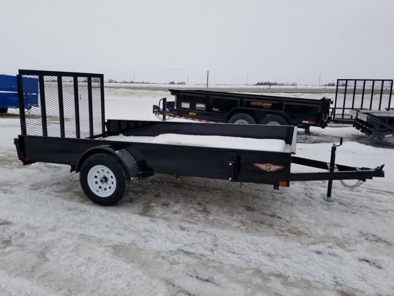 2019 H and H Trailer 82x12 Solid Side Utility Trailer