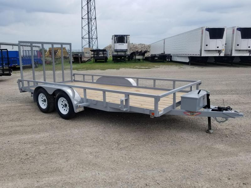 2020 H and H Trailer 82x16 Tandem Axle Utility Trailer