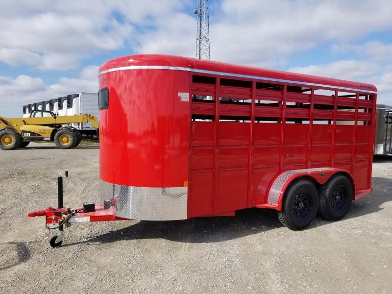 2020 Delta Manufacturing 6x16 Bumper Pull Livestock Trailer