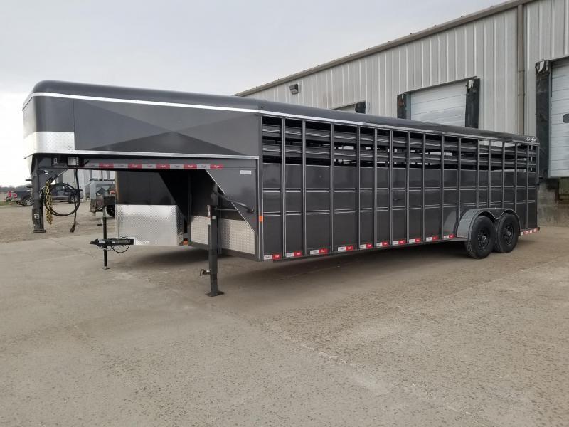 2020 Delta Manufacturing 24ft 14k Gooseneck Livestock Trailer