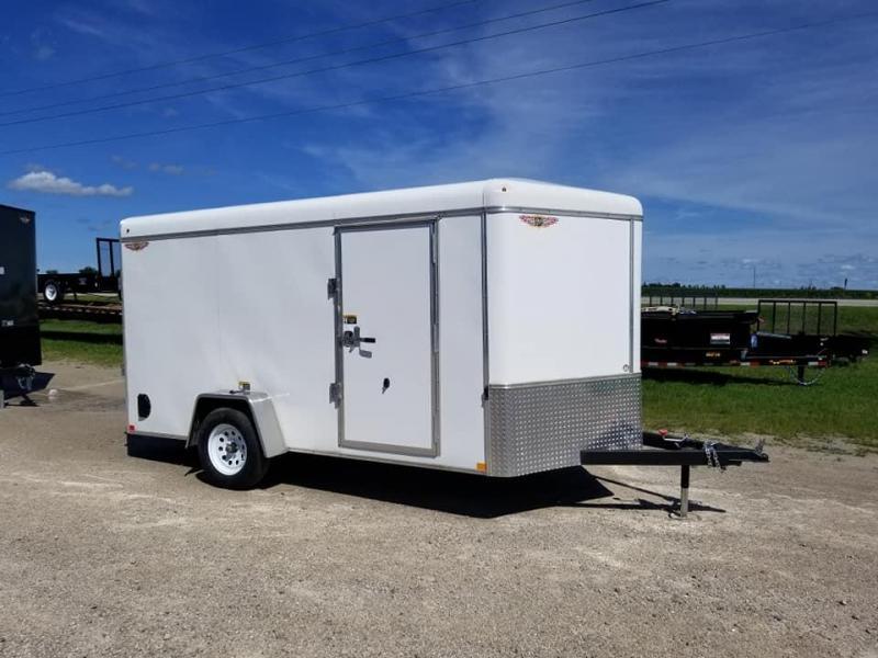 2019 H and H Trailer 7x12 Round Top V Nose Enclosed Cargo Trailer