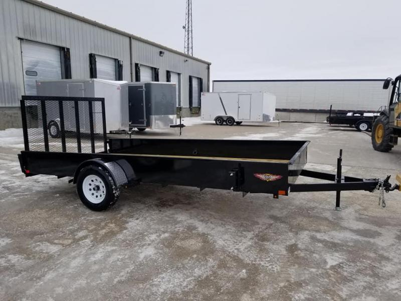 2019 H and H Trailer 82x14 Solid Side Utility Trailer