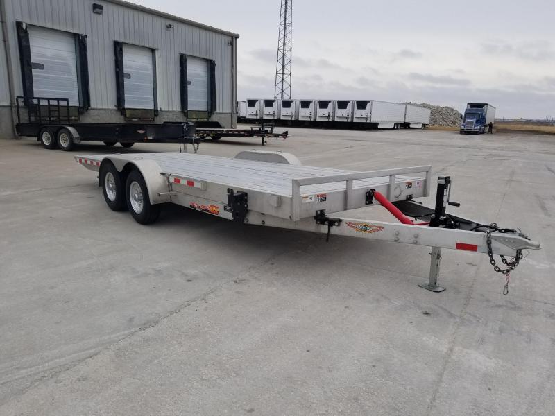 2018 H & H Trailers 82X20 Aluminum 10K Manual Speedloader Car / Racing Trailer