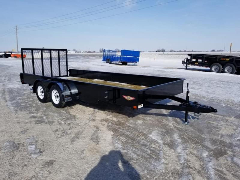 2019 H and H Trailer 82x18 7k Solid Side Utility Trailer